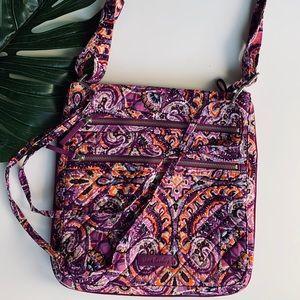 Vera Bradley | purple cotton pattern crossbody